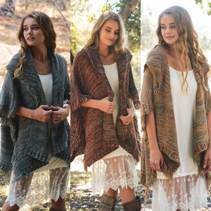 LEVI Fringe Poncho - 3 colors